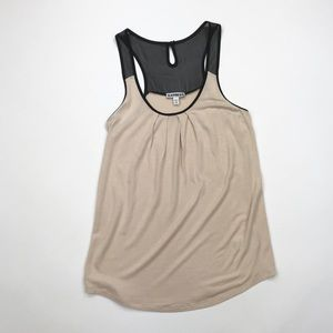 Express cream and black racerback tank, XS